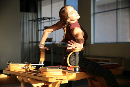 the gyrotonic tower uses spirals to improve our posture, find space in our joints, and gain flexibility